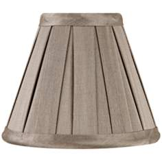 Pleated Gray Faux Silk Mini Shade 3x6x5 (Clip-On)