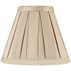Pleated Taupe Faux Silk Mini Shade 3x6x5 (Clip-On)