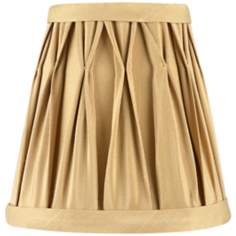 Pinch Pleat Tan Mini Shade 3x5x5 (Clip-On)