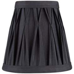 Pinch Pleat Black Mini Shade 3x5x5 (Clip-On)