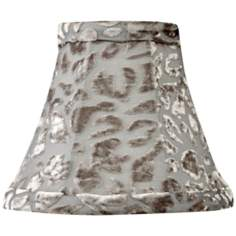 Gray Velvet Floral Mini Shade 3x6x5 (Clip-On)