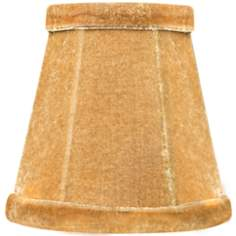 Beige Velvet Mini Shade 3x5x5 (Clip-On)