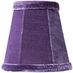 Purple Velvet Mini Shade 3x5x5 (Clip-On)