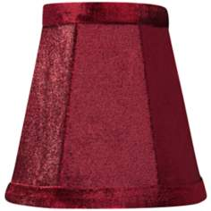 Burgundy Velvet Mini Shade 3x5x5 (Clip-On)