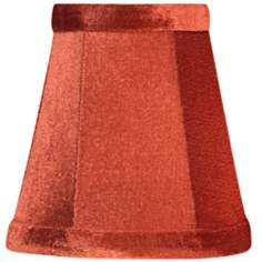 Persimmon Velvet Mini Shade 3x5x5 (Clip-On)