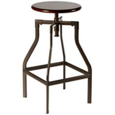 Hillsdale Cyprus Adjustable Backless Cherry Stool