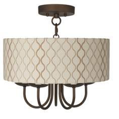 "Wynwood 14"" Wide Ceiling Light with Hourglass Shade"