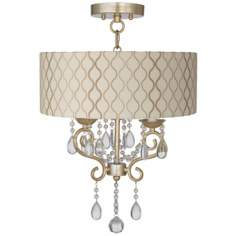 "Conti 14"" Wide Ceiling Light with Hourglass Shade"