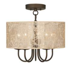 "Wynwood 16"" Wide Ceiling Light with Transparent Shade"