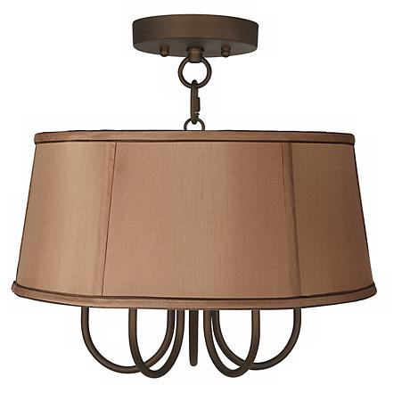 "Wynwood 16"" Wide Ceiling Light with Biscuit Brown Shade"