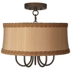 "Wynwood 17"" Wide Ceiling Light with Zurich Taupe Shade"