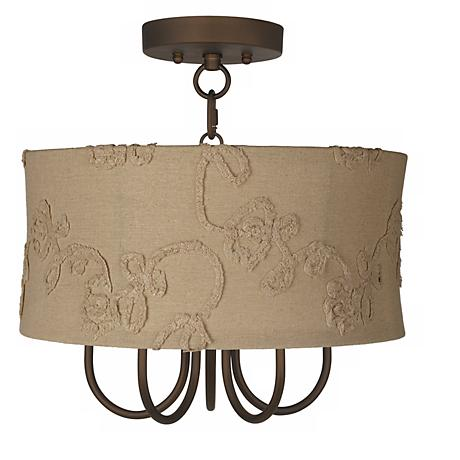 "Wynwood 15"" Wide Ceiling Light with Berkley Beige Shade"
