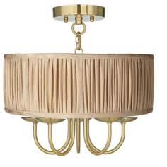 "Wynwood Gold 16"" Wide Carlton Pleat Ceiling Light"