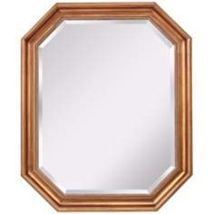 "Murray Feiss Marisa 33"" High Antique Gold Wall Mirror"