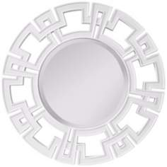 "Murray Feiss Helena 34"" Wide Round Wall Mirror"