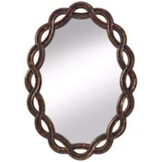 "Murray Feiss Charmed 34"" High Oval Wall Mirror"