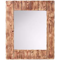 "Murray Feiss Montana 36"" High Smoked Wood Wall Mirror"