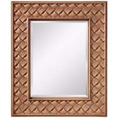 "Murray Feiss Crisfield  36"" High Butter Crackle Wall Mirror"