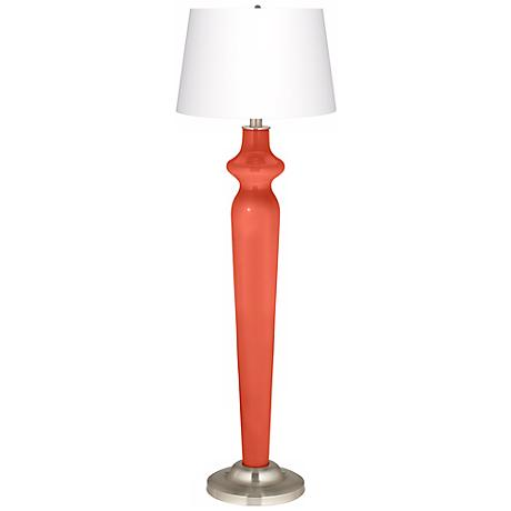 Daring Orange Lido Floor Lamp