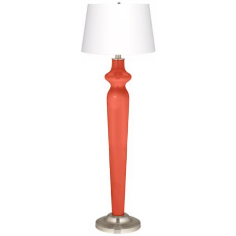 Modern Orange Lido Floor Lamp