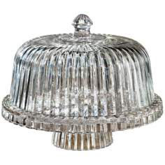 Alexandria Collection Crystal Cake Plate with Dome