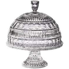 Princeton Collection Pedestal Crystal Cake Plate with Dome