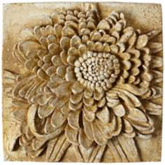 "Chrysanthemum 13 1/2"" Square Pompeii Outdoor Wall Plaque"