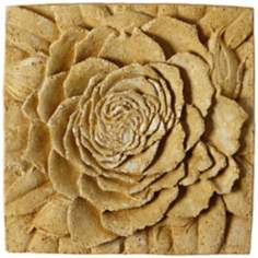 "Rose 13 1/2"" Square Pompeii Outdoor Wall Plaque"