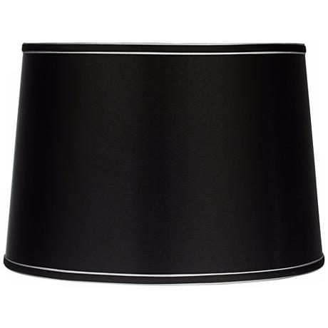 Sydnee Satin Black Drum Lamp Shade 14x16x11 (Spider)