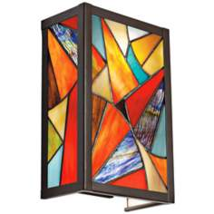 "Kichler Carnival 11"" High Art Glass Wall Sconce"