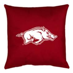 NCAA Arkansas Razorbacks Locker Room Throw Pillow