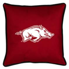 NCAA Arkansas Razorbacks Sidelines Throw Pillow