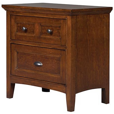 Riley 2-Drawer Cherry Nightstand