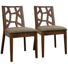 Set of 2 Jennifer Fabric Dining Chairs