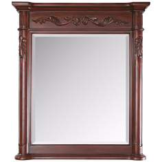 "Provence 40"" High Antique Cherry Wall Mirror"