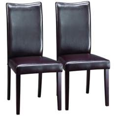 Set of 2 Shino Wood Dining Chairs