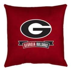 NCAA Georgia Bulldogs Locker Room Throw Pillow
