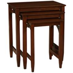 Set of 3 Knox Antique Walnut Nesting Tables