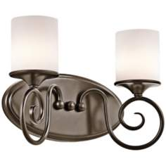 "Kichler Lara 13"" Wide Shadow Bronze Bath Light"
