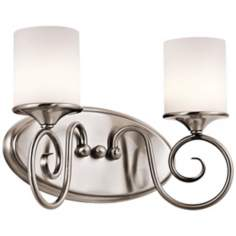 "Kichler Lara 13"" Wide Classic Pewter Bath Light"