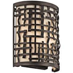 "Kichler Loom 10"" High Olde Bronze Wall Sconce"