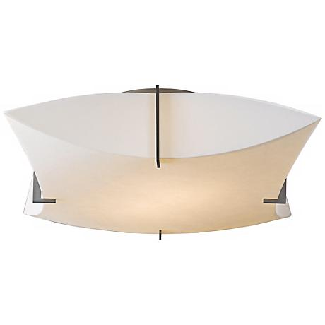 "Hubbardton Forge Bento 17 3/4""W Dark Smoke Ceiling Light"