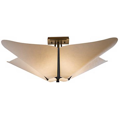 "Hubbardton Forge Kirigami 22 1/2""W Smoke Ceiling Light"