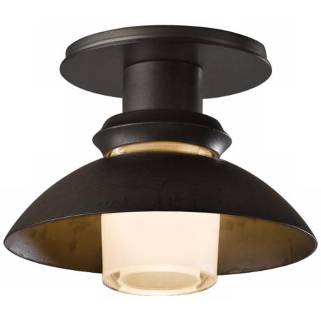 "Hubbardton Forge Staccato 7""W Dark Smoke Ceiling Light"