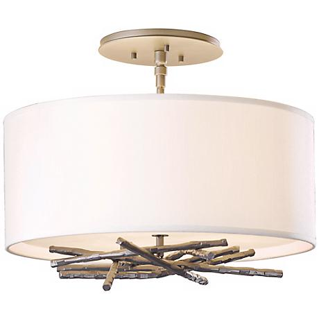 "Hubbardton Forge Brindille 15""W Steel Ceiling Light"
