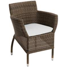 Osiris Collection Dining Table White Outdoor Armchair