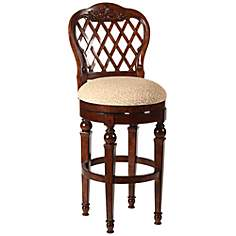 Woodridge Walnut Swivel Barstool