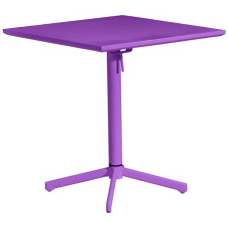 Zuo Big Wave Purple Square Outdoor Folding Table