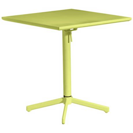 Zuo Big Wave Lime Green Square Outdoor Folding Table