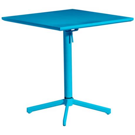 Zuo Big Wave Aqua Square Outdoor Folding Table